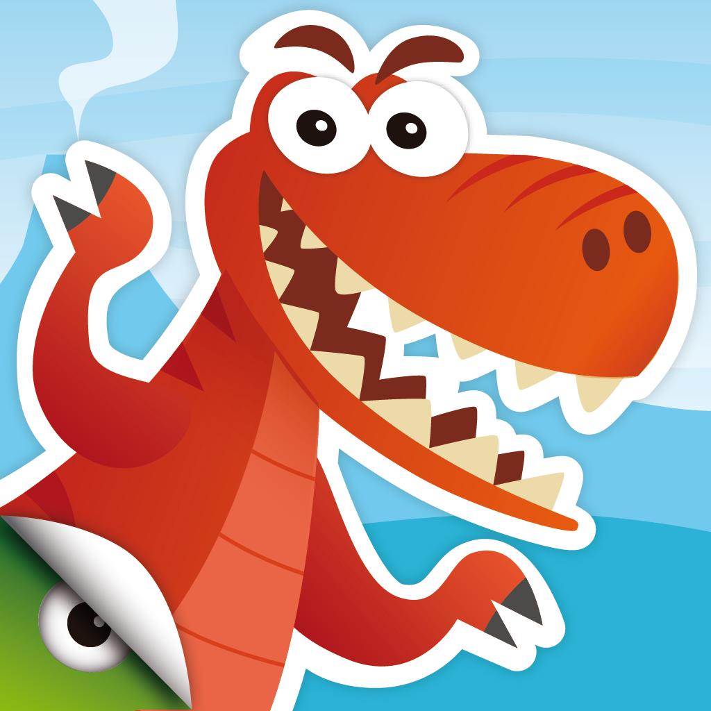儿童动物拼图找不同及色彩识别益智游戏
