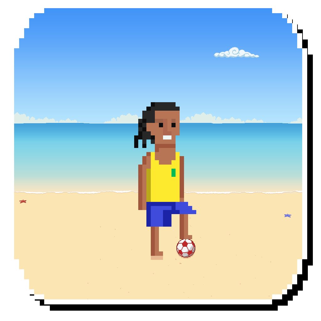 Beach Brazil Football Juggling - Test Ball Handling Skills FREE